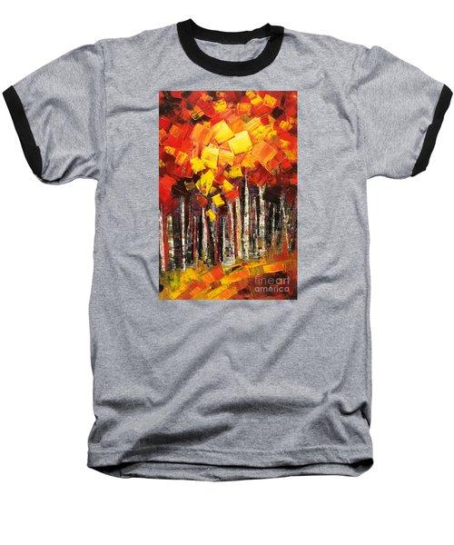 Baseball T-Shirt featuring the painting Exaltant by Tatiana Iliina
