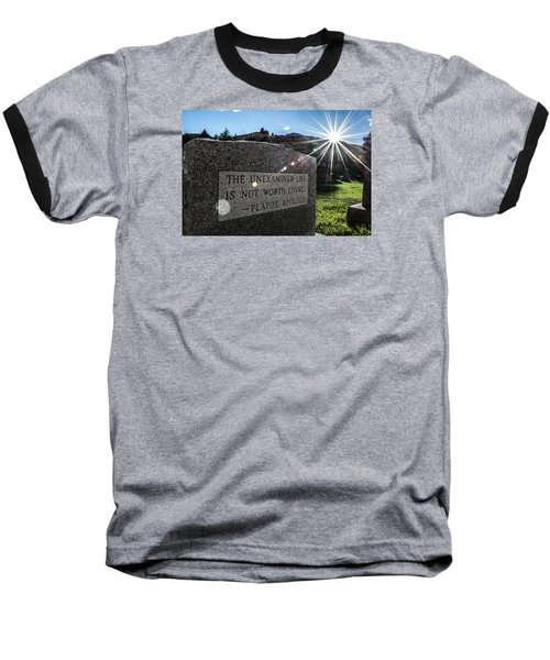 Baseball T-Shirt featuring the photograph Examined Life Color by Rhys Arithson