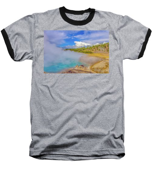 Excelsior Geyser Crater Yellowstone Baseball T-Shirt