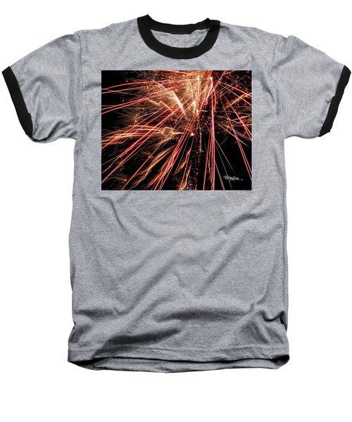 Baseball T-Shirt featuring the photograph Exciting Fireworks #0734 by Barbara Tristan
