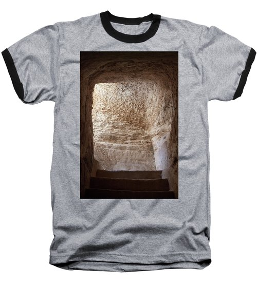 Exit To The Light Baseball T-Shirt by Yoel Koskas