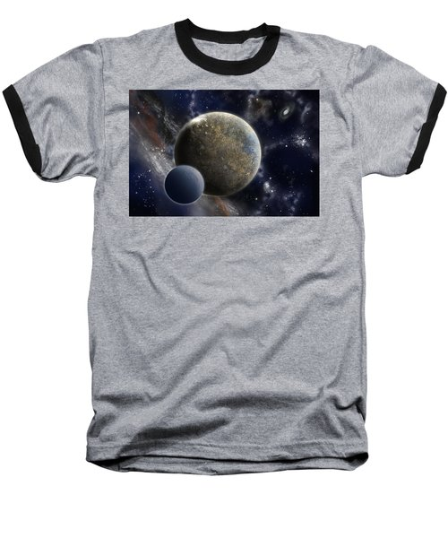 Exosolar Worlds Baseball T-Shirt