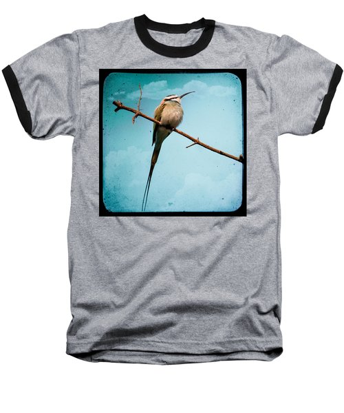 Baseball T-Shirt featuring the photograph Exotic Birds - White Throated Bee Eater by Gary Heller