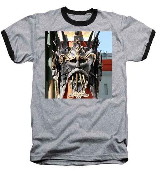 Exotic Chinese Mask Baseball T-Shirt