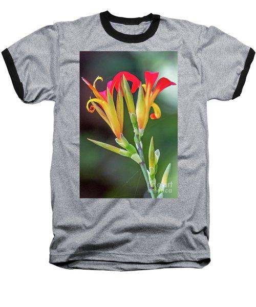 Exotic Flowers Baseball T-Shirt