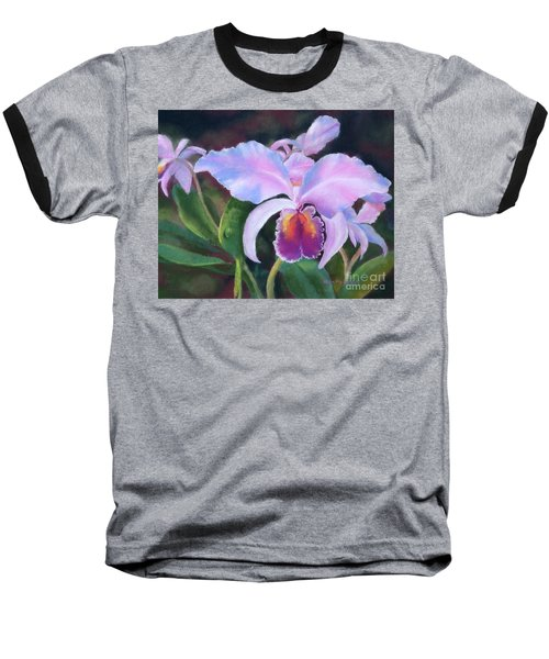 Exotic Pink Orchid Baseball T-Shirt