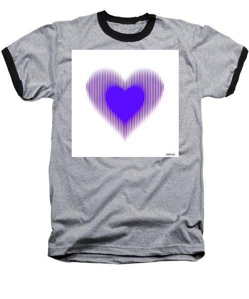 Expanding - Shrinking Heart Baseball T-Shirt