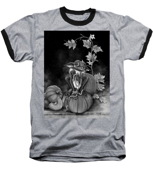 Baseball T-Shirt featuring the painting Explain Yourself - Black And White Fantasy Art by Raphael Lopez
