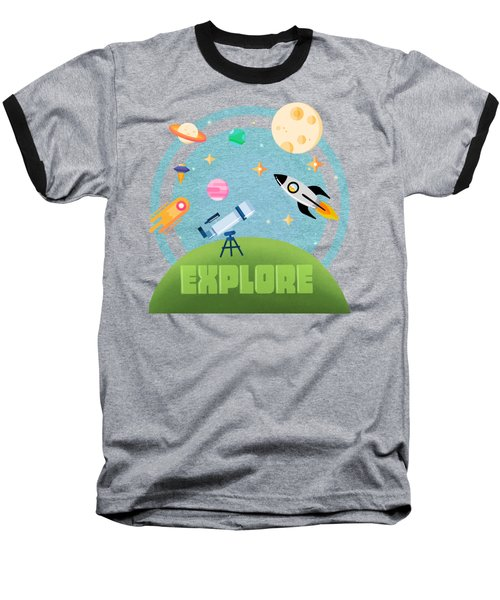 Explore Space Baseball T-Shirt