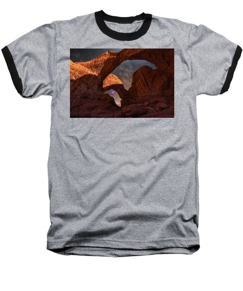 Baseball T-Shirt featuring the photograph Explore The Night by Darren White