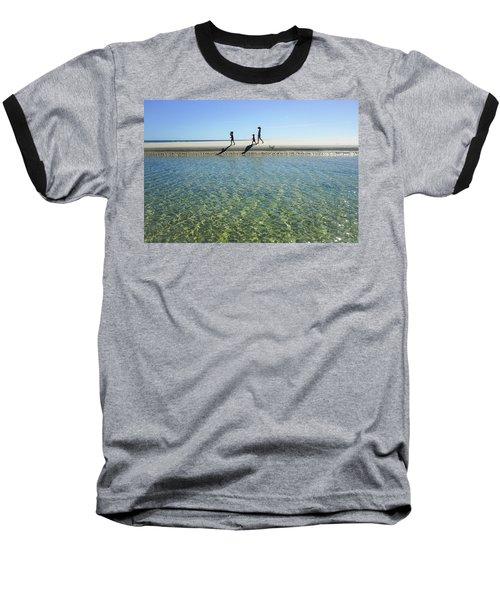 Exploring A Tidal Beach Lagoon Baseball T-Shirt