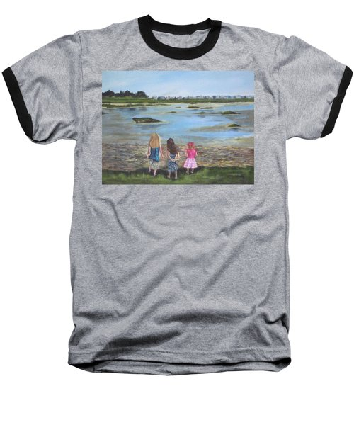 Exploring The Marshes Baseball T-Shirt