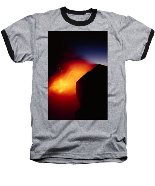 Explosion At Twilight Baseball T-Shirt by William Waterfall - Printscapes