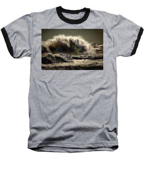 Explosion In The Ocean Baseball T-Shirt
