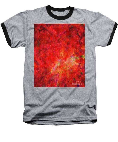 Explosion In Watercolor Baseball T-Shirt