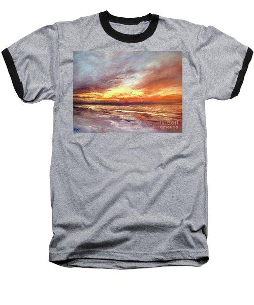 Explosion Of Light Baseball T-Shirt by Valerie Travers