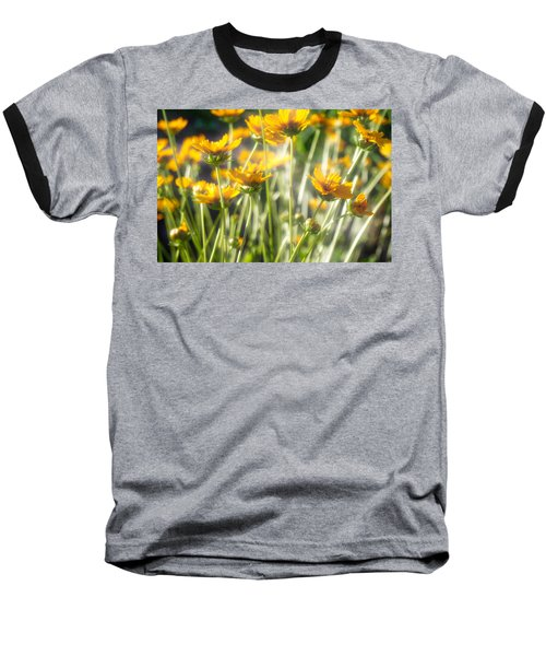 Explosion Of Yellow Baseball T-Shirt