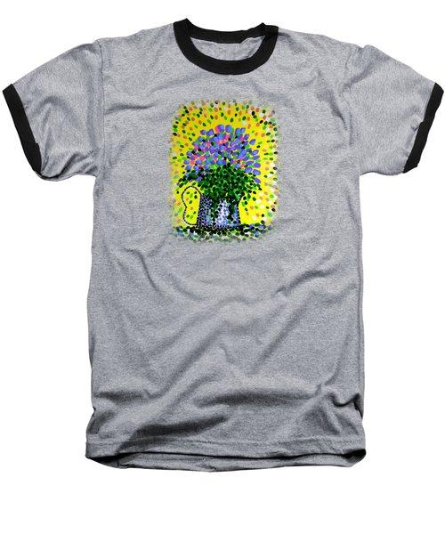 Explosive Flowers Baseball T-Shirt by Alan Hogan