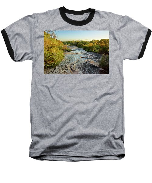 Baseball T-Shirt featuring the photograph Exposed Sandstone In North Head by Miroslava Jurcik
