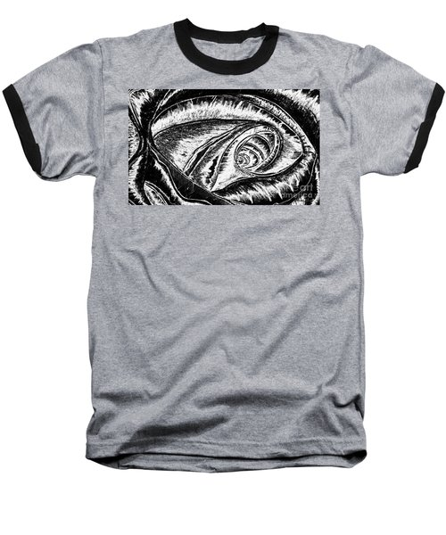 A0216a Expressive Abstract Black And White Baseball T-Shirt
