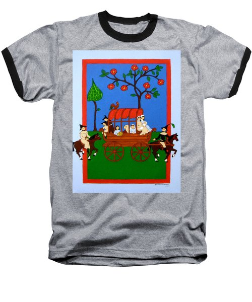 Baseball T-Shirt featuring the painting Expulsion Of The Jews For M Spain by Stephanie Moore