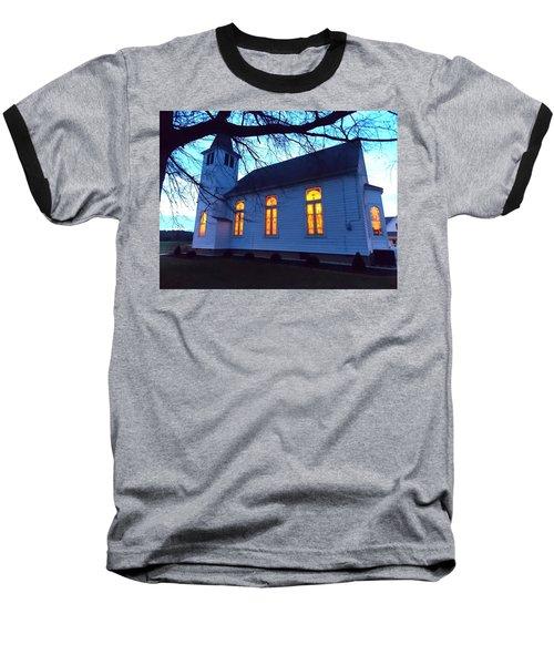 Exterior Church Evening Baseball T-Shirt