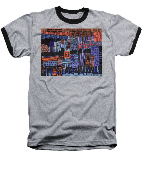 Exterior Facade Baseball T-Shirt by Sandra Church