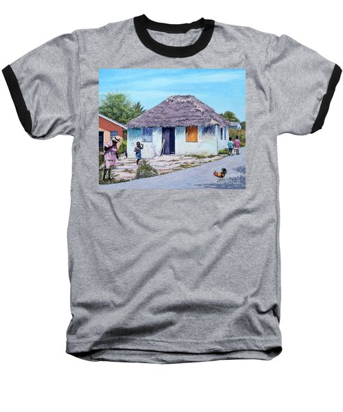 Exuma Thatch Hut Baseball T-Shirt