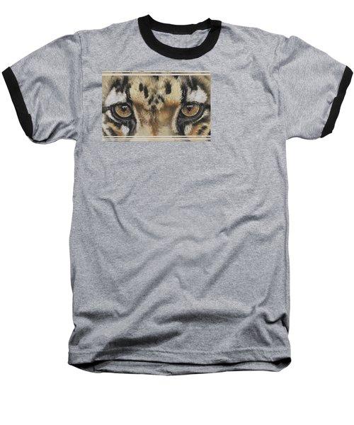 Clouded Leopard Gaze Baseball T-Shirt