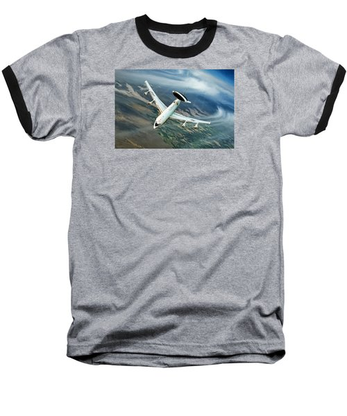 Eye In The Sky Baseball T-Shirt by Peter Chilelli