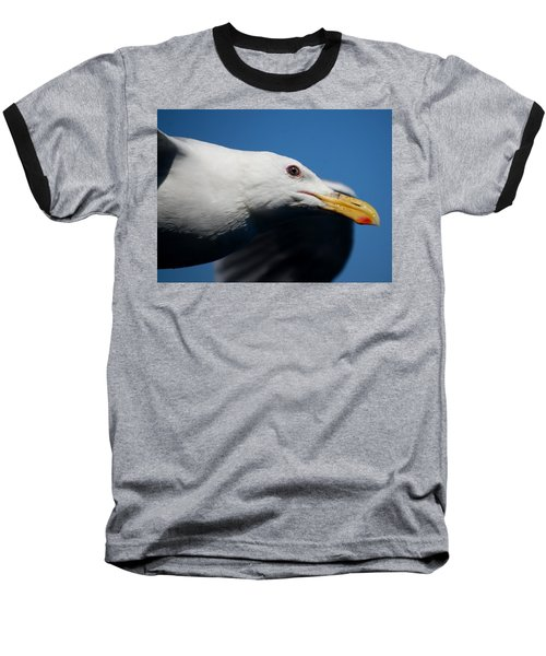 Eye Of A Seagull Baseball T-Shirt by Sumoflam Photography