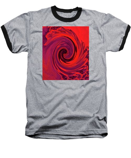 Eye Of The Honu - Red Baseball T-Shirt