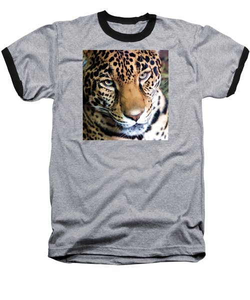 Eye Of The Leopard Baseball T-Shirt by Athena Mckinzie