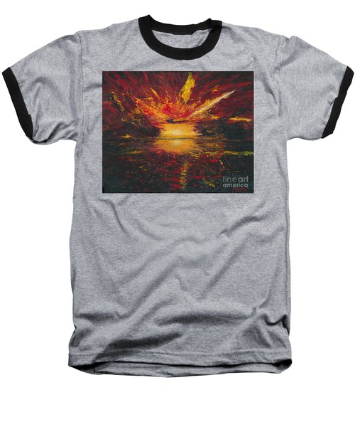 Eye Of The Storm Baseball T-Shirt by Ania M Milo