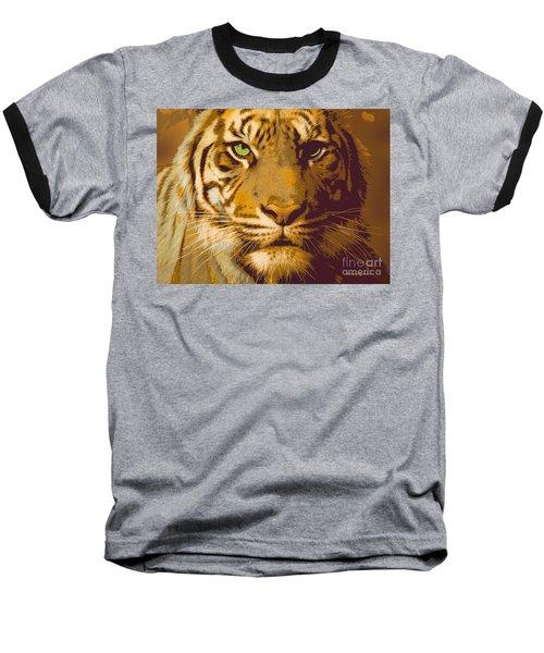 Eye Of The Tiger Animal Portrait  Baseball T-Shirt