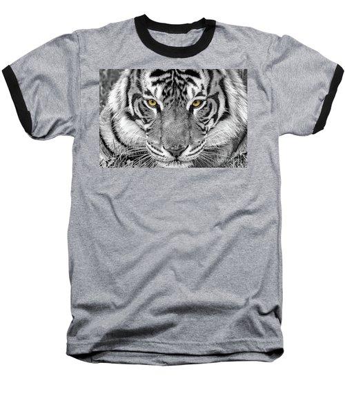 Baseball T-Shirt featuring the digital art Eye Of The Tiger by Ray Shiu