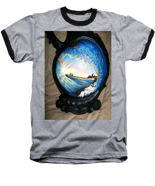 Eye Of The Wave 1 Baseball T-Shirt