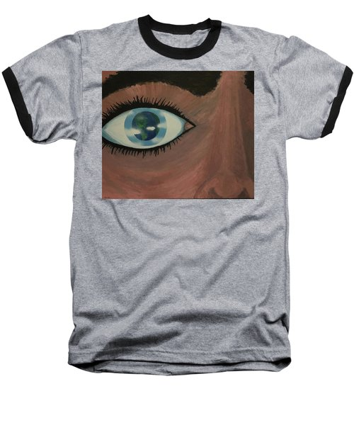Baseball T-Shirt featuring the painting Eye Of The World by Thomas Blood
