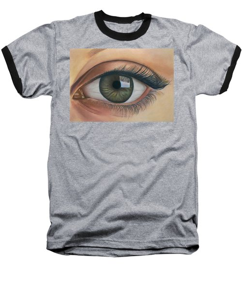 Eye - The Window Of The Soul Baseball T-Shirt by Vishvesh Tadsare