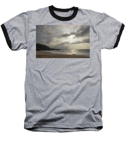 Eye To Eye Baseball T-Shirt by Alex Lapidus