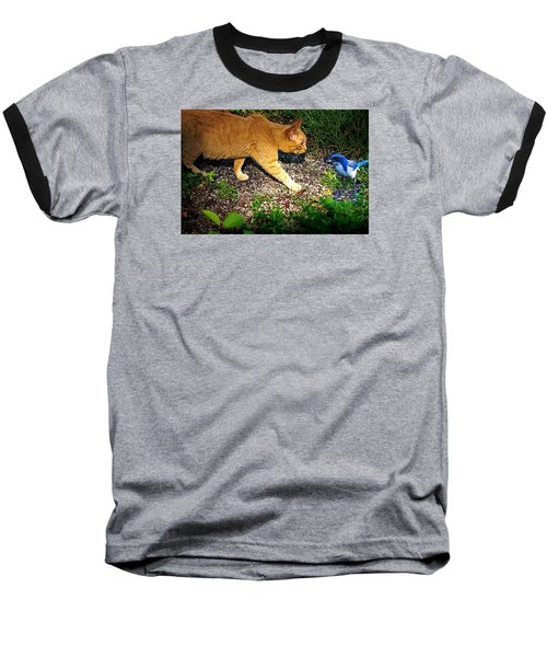 Eye To Eye Baseball T-Shirt by Nick Kloepping
