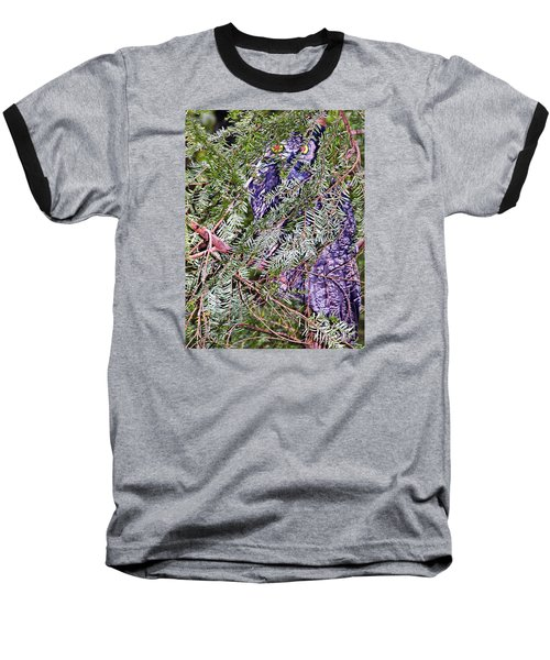 Eyes In The Forest Baseball T-Shirt by Ansel Price