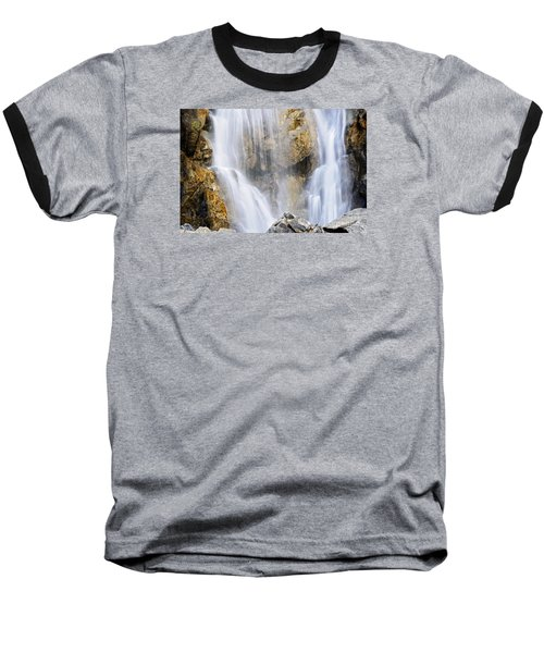 Baseball T-Shirt featuring the photograph Eyes In The Rocks- Holland Falls  by Janie Johnson