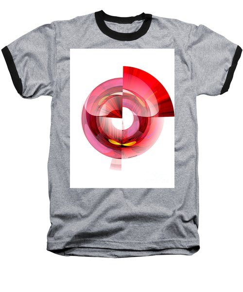 Eyes In Tunnel Baseball T-Shirt by Thibault Toussaint