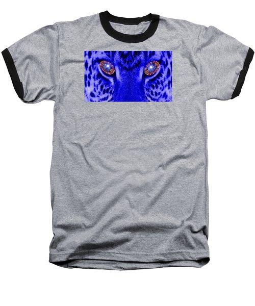 Eyes Of The Leppard Baseball T-Shirt by Luisa Gatti