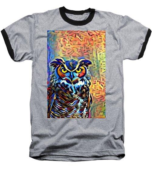 Baseball T-Shirt featuring the photograph Eyes Of Wisdom by Geri Glavis