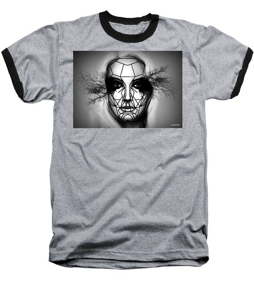 Eyes Tell The Truth Baseball T-Shirt by Paulo Zerbato