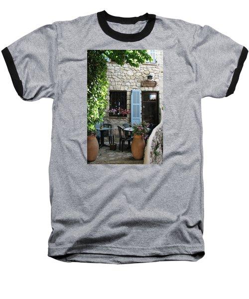 Eze Cobblestone Patio Baseball T-Shirt