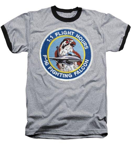 F-16 Ride Patch Baseball T-Shirt