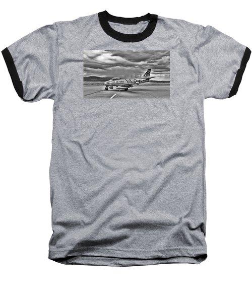 F-86 Sabre Baseball T-Shirt by Douglas Castleman